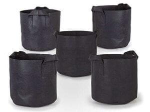 247Garden 5-Pack 3 Gallon Grow Bags