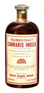 Cannabis Indica - American Druggists bottle