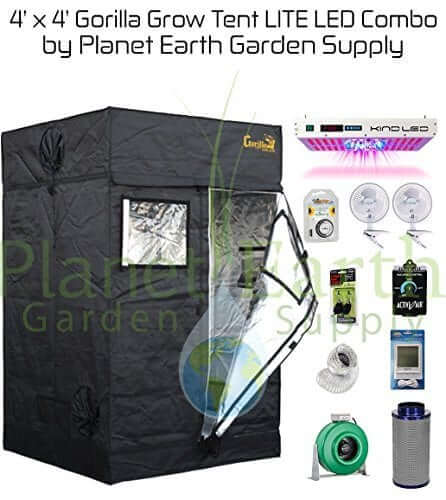 Gorilla Grow Tent LITE (4u0027 x 4u0027) LED Combo Package #1  sc 1 st  LED Grow Lights : tent starter packages - memphite.com