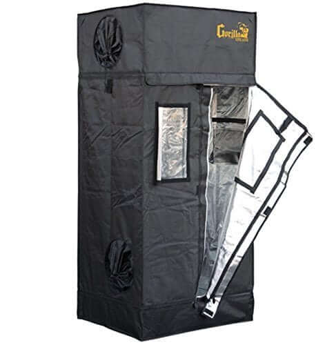 Gorilla Grow Tent LTGGT22 Tent 2u2032 x 2.5u2032 x 5u00277u2033 u2013 Our favorite small grow tent (Editoru0027s Choice)  sc 1 st  LED Grow Lights & Best Grow Tent for Growing Cannabis (2018) - Reviews u0026 Guide
