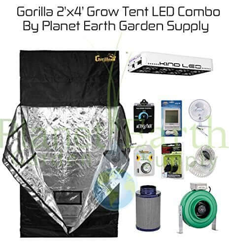 Gorilla Grow Tent (2u2032 x 4u2032) LED Combo Package #1 u2013 Best small grow tent complete kit  sc 1 st  Best LED Grow Lights & Best Grow Tent for Growing Cannabis (2019) - Reviews u0026 Guide