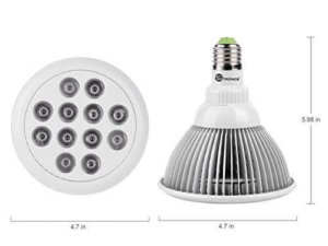 TaoTronics Hydroponic LED Grow Light bulb