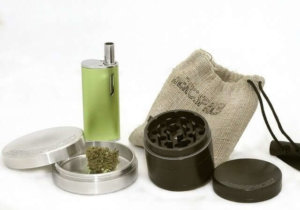 Marijuana vaporizer and grinder