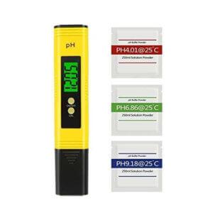 Benestellar Digital pH Meter with 3 Set of pH Buffer Powder