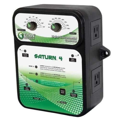 Titan Controls 702850 Saturn 4 Digital Day and Night Environmental Grow Room Controller with Photocell