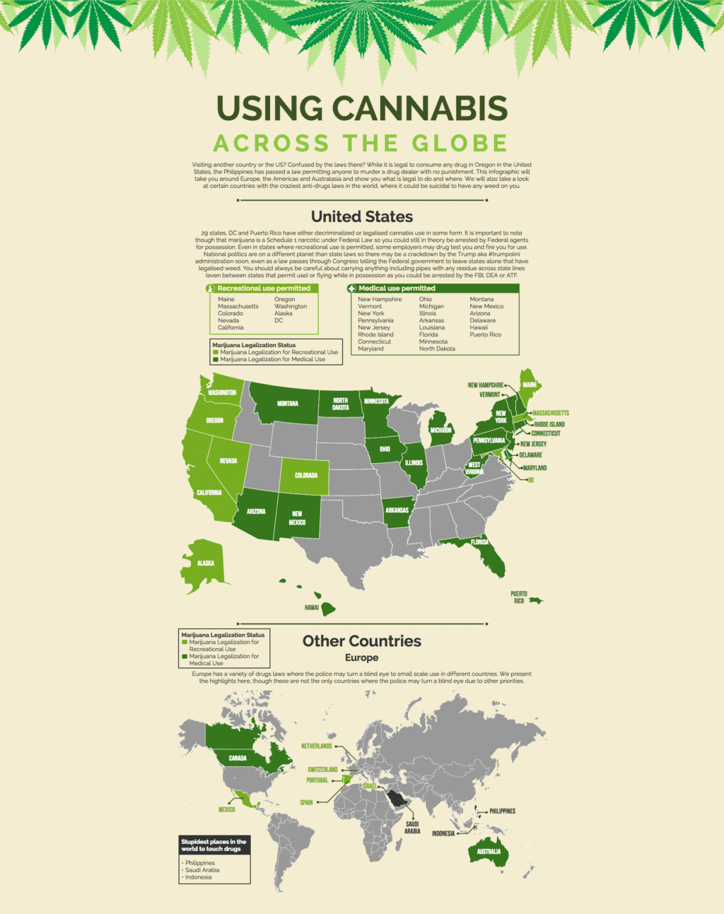 Cannabis Legality Across the Globe | Interactive Infographic | 2017