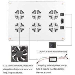 Morsen MAX12 3600W LED grow light cooling design