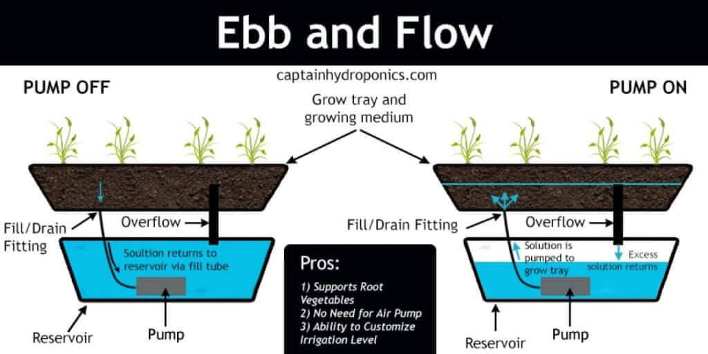 ebb and flow marijuana hydroponic system diagram