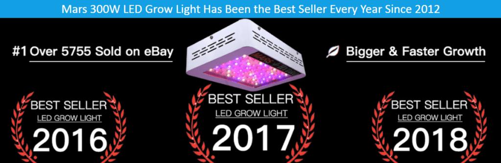 MarsHydro bestselling grow light 300w
