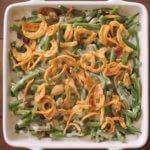 lgreen bean casserole in a dish