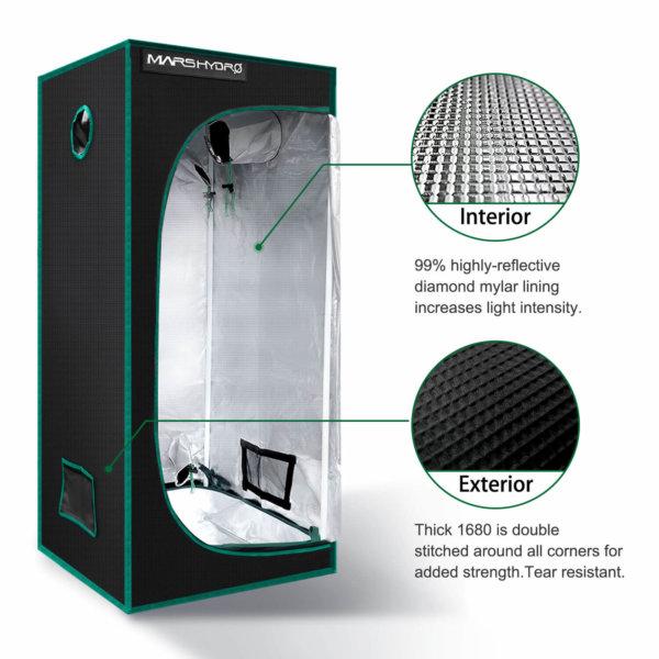 Indoor Grow Tent - 70x70x160cm